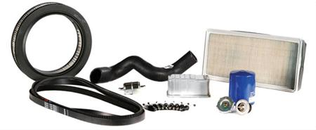 Filter for olje, drivstoff og luft, tennplugger, tennkabler, termostater, viftereimer